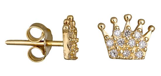 Σκουλαρίκια χρυσές κορώνες 14Κ 018118 018118 Χρυσός 14 Καράτια