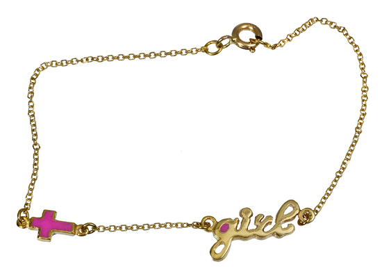 Παιδικό βραχιόλι Girl 018127 018127 Χρυσός 14 Καράτια παιδικά κοσμήματα βραχιόλια