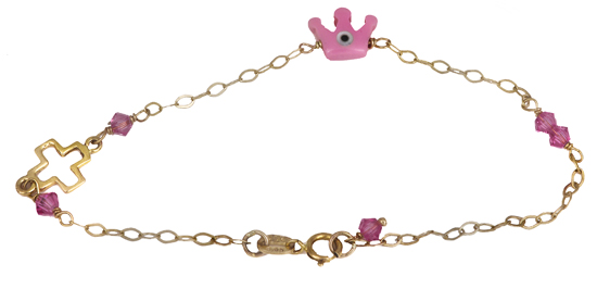 Παιδικό βραχιόλι 018143 018143 Χρυσός 9 Καράτια παιδικά κοσμήματα βραχιόλια