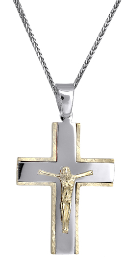 Βαπτιστικοί Σταυροί με Αλυσίδα Σταυροί για άντρες 14Κ c018148 018148C Ανδρικό Χρυσός 14 Καράτια