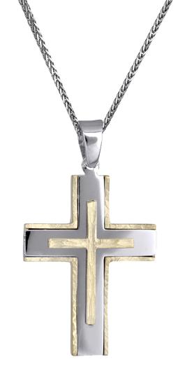 Βαπτιστικοί Σταυροί με Αλυσίδα Σταυροί για άντρες 14Κ c018149 018149C Ανδρικό Χρυσός 14 Καράτια
