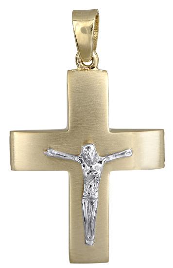 Σταυροί Βάπτισης - Αρραβώνα Ανδρικός σταυρός 018150 018150 Ανδρικό Χρυσός 14 Καράτια