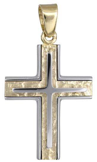Σταυροί Βάπτισης - Αρραβώνα Ανδρικός σταυρός 018157 018157 Ανδρικό Χρυσός 14 Καράτια