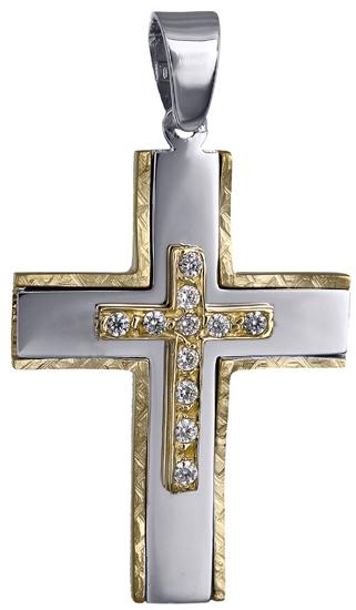 Σταυροί Βάπτισης - Αρραβώνα Γυναικείος σταυρός 018158 018158 Γυναικείο Χρυσός 14 Καράτια