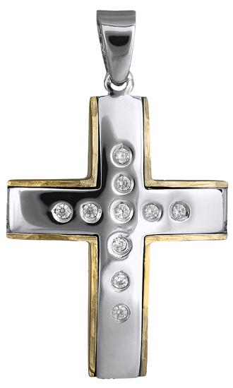 Σταυροί Βάπτισης - Αρραβώνα Γυναικείος σταυρός 018159 018159 Γυναικείο Χρυσός 14 Καράτια