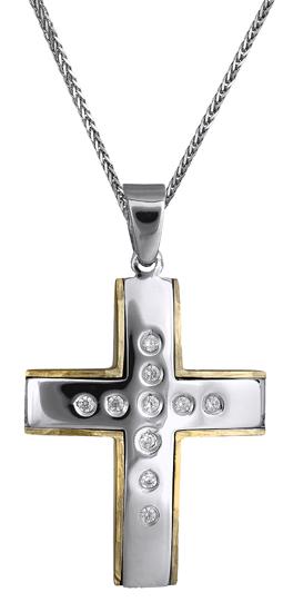 Βαπτιστικοί Σταυροί με Αλυσίδα Γυναικείος σταυρός 14Κ c018159 018159C Γυναικείο Χρυσός 14 Καράτια