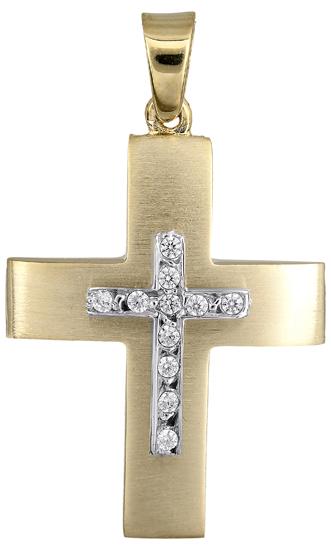 Σταυροί Βάπτισης - Αρραβώνα Γυναικείος σταυρός 018160 018160 Γυναικείο Χρυσός 14 Καράτια