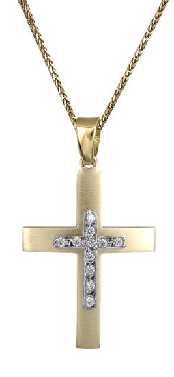 Βαπτιστικοί Σταυροί με Αλυσίδα Γυναικείος σταυρός 14Κ c018161 018161C Γυναικείο Χρυσός 14 Καράτια