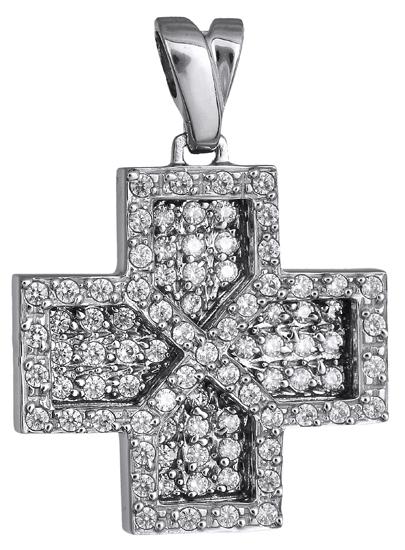 Σταυροί Βάπτισης - Αρραβώνα Γυναικείος λευκόχρυσος σταυρός 018165 018165 Γυναικείο Χρυσός 9 Καράτια