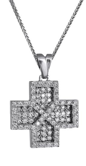 Γυναικείος σταυρός 9Κ c018165 018165C Χρυσός 9 Καράτια χρυσά κοσμήματα σταυροί