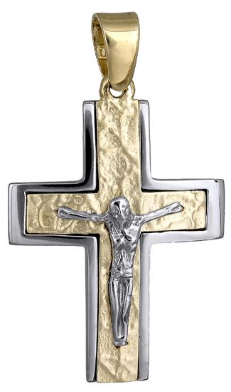 Σταυροί Βάπτισης - Αρραβώνα Ανδρικός σταυρός 018177 018177 Ανδρικό Χρυσός 14 Καράτια