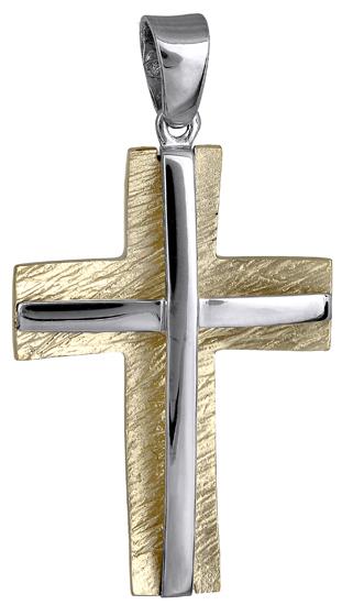 Σταυροί Βάπτισης - Αρραβώνα Ανδρικός σταυρός 018180 018180 Ανδρικό Χρυσός 14 Καράτια