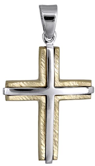 Σταυροί Βάπτισης - Αρραβώνα Ανδρικός σταυρός 018190 018190 Ανδρικό Χρυσός 14 Καράτια