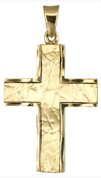 Σταυροί Βάπτισης - Αρραβώνα Χρυσός αντρικός σταυρός 14Κ 018195 018195 Ανδρικό Χρυσός 14 Καράτια