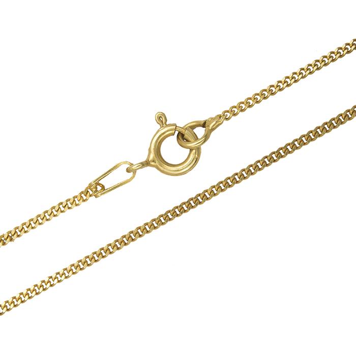 Επίχρυση αλυσίδα λαιμού 925 018217 018217 Ασήμι ασημένια κοσμήματα αλυσίδες