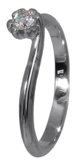 Δαχτυλίδι μονόπετρο με διαμάντι Κ18 | 018227 018227 Χρυσός 18 Καράτια