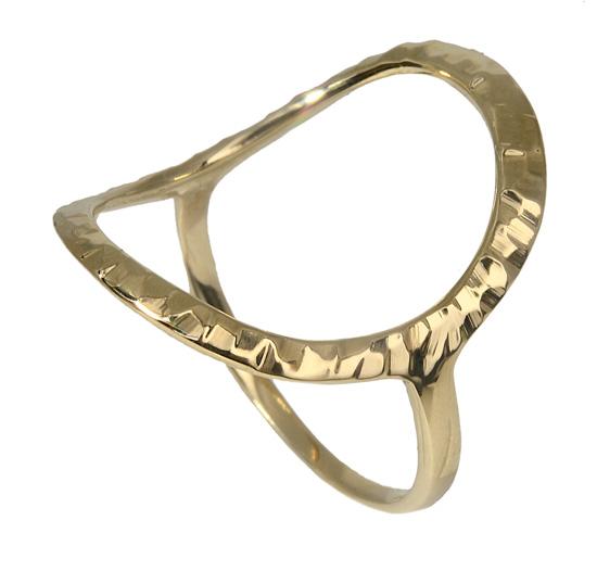 Δαχτυλίδι χρυσό σφυρήλατο Κ9 018596 018596 Χρυσός 9 Καράτια
