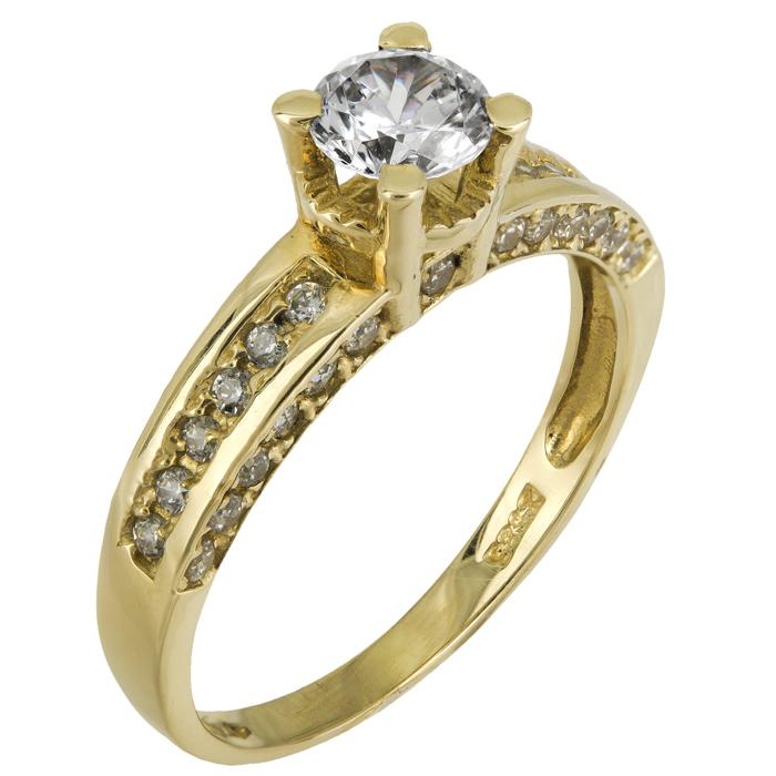 Μονόπετρα 14Κ 018231 018231 Χρυσός 14 Καράτια