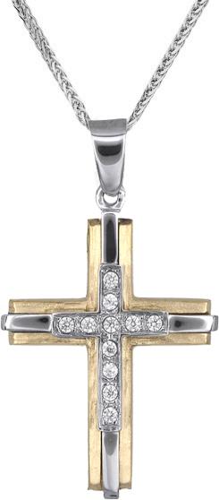Βαπτιστικοί Σταυροί με Αλυσίδα Γυναικείοι σταυροί - βαπτιστικοί C018235 018235C Γυναικείο Χρυσός 14 Καράτια