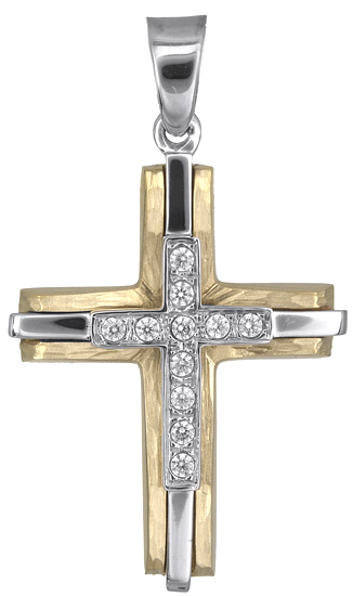 Σταυροί Βάπτισης - Αρραβώνα Βαπτιστικός σταυρός για κορίτσι 14Κ 018239 018239 Γυναικείο Χρυσός 14 Καράτια