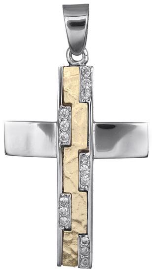 Σταυροί Βάπτισης - Αρραβώνα Σταυρός για κορίτσι 14Κ 018243 018243 Γυναικείο Χρυσός 14 Καράτια