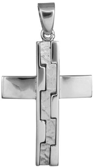 Σταυροί Βάπτισης - Αρραβώνα σταυροί λευκοχρυσοί αντρικοί 14Κ 018244 018244 Ανδρικό Χρυσός 14 Καράτια
