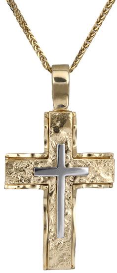 Βαπτιστικοί Σταυροί με Αλυσίδα Σταυρός ανδρικός 14Κ c018279 018279C Ανδρικό Χρυσός 14 Καράτια