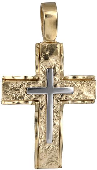 Σταυροί Βάπτισης - Αρραβώνα Ανδρικός σταυρός 14Κ 018279 018279 Ανδρικό Χρυσός 14 Καράτια