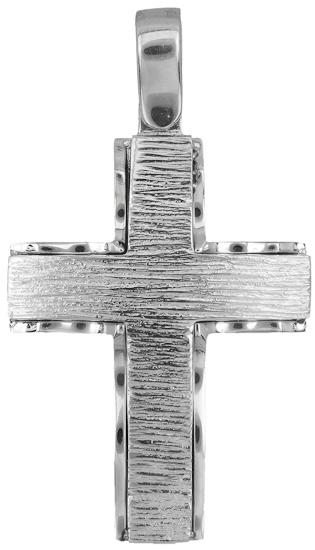 Σταυροί Βάπτισης - Αρραβώνα Σταυρός λευκόχρυσος 18Κ 019918 019918 Ανδρικό Χρυσός 18 Καράτια