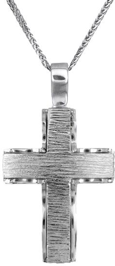 Βαπτιστικοί Σταυροί με Αλυσίδα Βαπτιστικός σταυρός με αλυσίδα 18Κ C019918 019918C Ανδρικό Χρυσός 18 Καράτια