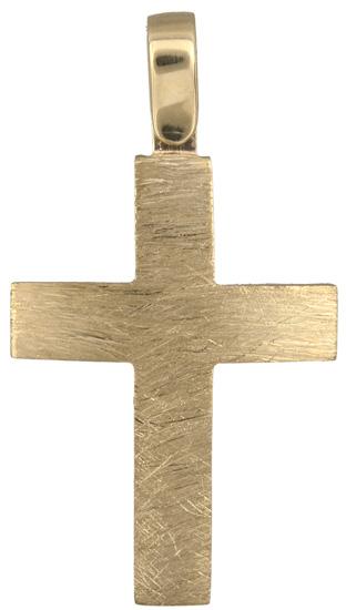 Σταυροί Βάπτισης - Αρραβώνα Χρυσός ανδρικός σταυρός 18Κ 019916 019916 Ανδρικό Χρυσός 18 Καράτια