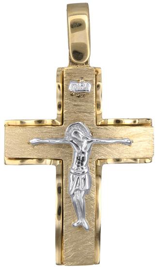 Σταυροί Βάπτισης - Αρραβώνα Ανδρικός σταυρός 14Κ 018289 018289 Ανδρικό Χρυσός 14 Καράτια