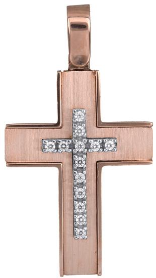Σταυροί Βάπτισης - Αρραβώνα Σταυρός για κορίτσι 14Κ 018290 018290 Γυναικείο Χρυσός 14 Καράτια