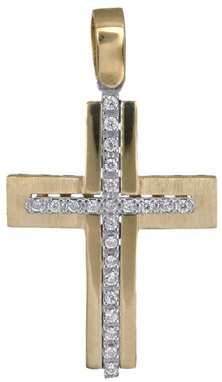 Σταυροί Βάπτισης - Αρραβώνα Σταυρός για κορίτσι 14Κ 018291 018291 Γυναικείο Χρυσός 14 Καράτια