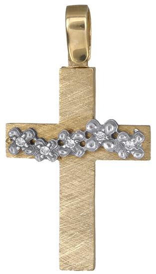 Σταυροί Βάπτισης - Αρραβώνα Γυναικείος σταυρός 14Κ 018292 018292 Γυναικείο Χρυσός 14 Καράτια