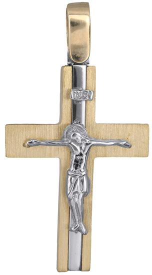 Σταυροί Βάπτισης - Αρραβώνα Ανδρικός σταυρός 14Κ 018293 018293 Ανδρικό Χρυσός 14 Καράτια