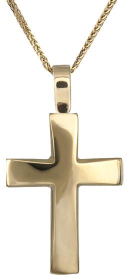 Βαπτιστικοί Σταυροί με Αλυσίδα Oικονομικός σταυρός Κ14 C018295 018295C Ανδρικό Χρυσός 14 Καράτια
