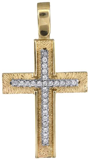 Σταυροί Βάπτισης - Αρραβώνα Γυναικείος σταυρός 14Κ 018299 018299 Γυναικείο Χρυσός 14 Καράτια