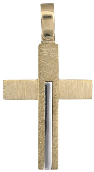 Σταυροί Βάπτισης - Αρραβώνα Σταυρός ανδρικός 14Κ 018305 018305 Ανδρικό Χρυσός 14 Καράτια