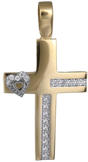 Σταυροί Βάπτισης - Αρραβώνα Γυναικείος σταυρός 14Κ 018309 018309 Γυναικείο Χρυσός 14 Καράτια