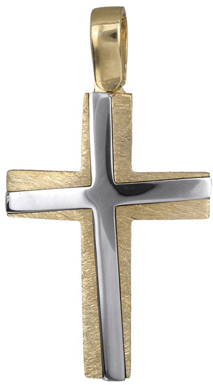 Σταυροί Βάπτισης - Αρραβώνα Ανδρικός σταυρός 14Κ 018321 018321 Ανδρικό Χρυσός 14 Καράτια