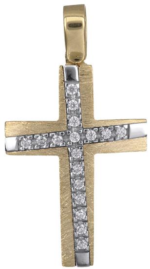Σταυροί Βάπτισης - Αρραβώνα Σταυρός για κορίτσι 14Κ 018322 018322 Γυναικείο Χρυσός 14 Καράτια