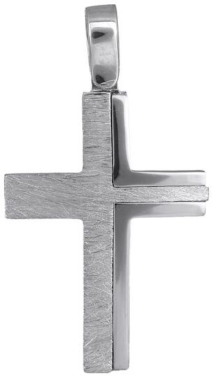 Σταυροί Βάπτισης - Αρραβώνα Ανδρικός σταυρός λευκόχρυσος 18Κ 019914 019914 Ανδρικό Χρυσός 18 Καράτια
