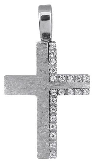 Σταυροί Βάπτισης - Αρραβώνα Λευκόχρυσος γυναικείος σταυρός 14Κ 018331 018331 Γυναικείο Χρυσός 14 Καράτια