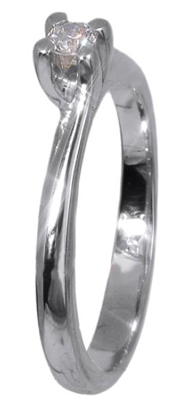Δαχτυλίδι μονόπετρο με διαμάντι 018354 018354 Χρυσός 18 Καράτια