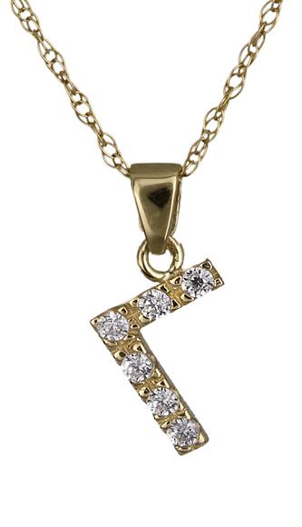 Χρυσό μονόγραμμα Γ C01400 018400C Χρυσός 14 Καράτια