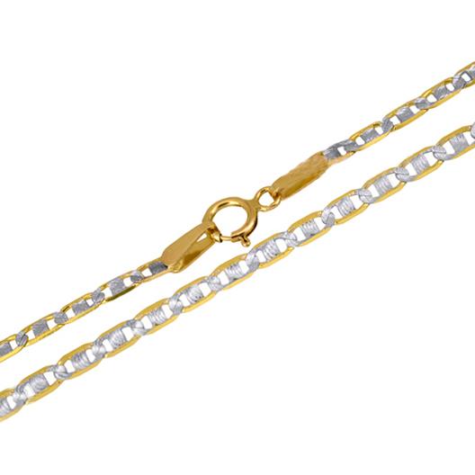 Καδένα λαιμού δίχρωμη 14Κ 018424 018424 Χρυσός 14 Καράτια χρυσά κοσμήματα αλυσίδες   καδένες