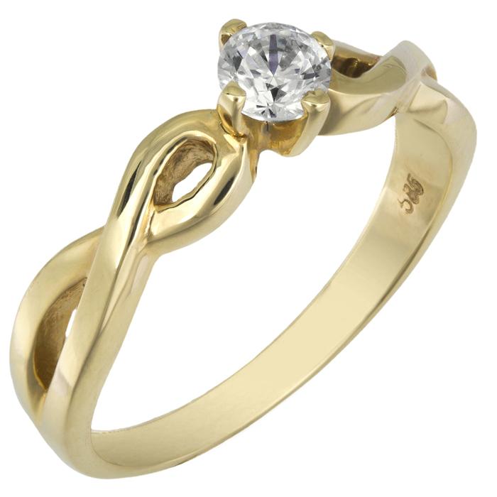Xρυσό μονόπετρο 018525 018525 Χρυσός 14 Καράτια χρυσά κοσμήματα δαχτυλίδια μονόπετρα