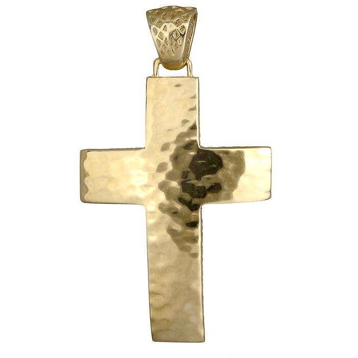 Σταυροί Βάπτισης - Αρραβώνα Οικονομικός ανδρικός σταυρός 14Κ 018541 018541 Ανδρικό Χρυσός 14 Καράτια
