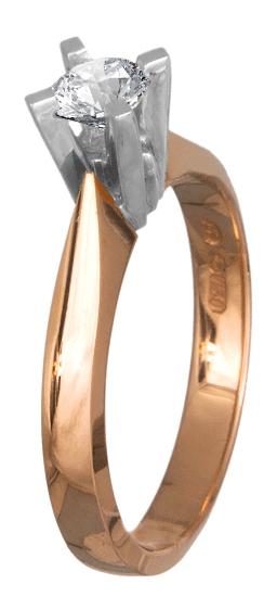 Μονόπετρο ροζ gold Κ18 με brilliant 018600 018600 Χρυσός 18 Καράτια